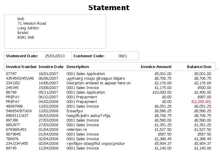 Invoice Statement Template Uk neverageinfo – Statement of Account Template
