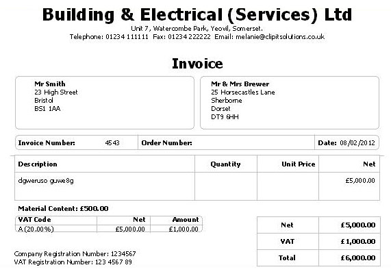 invoice template limited company – neverage, Simple invoice